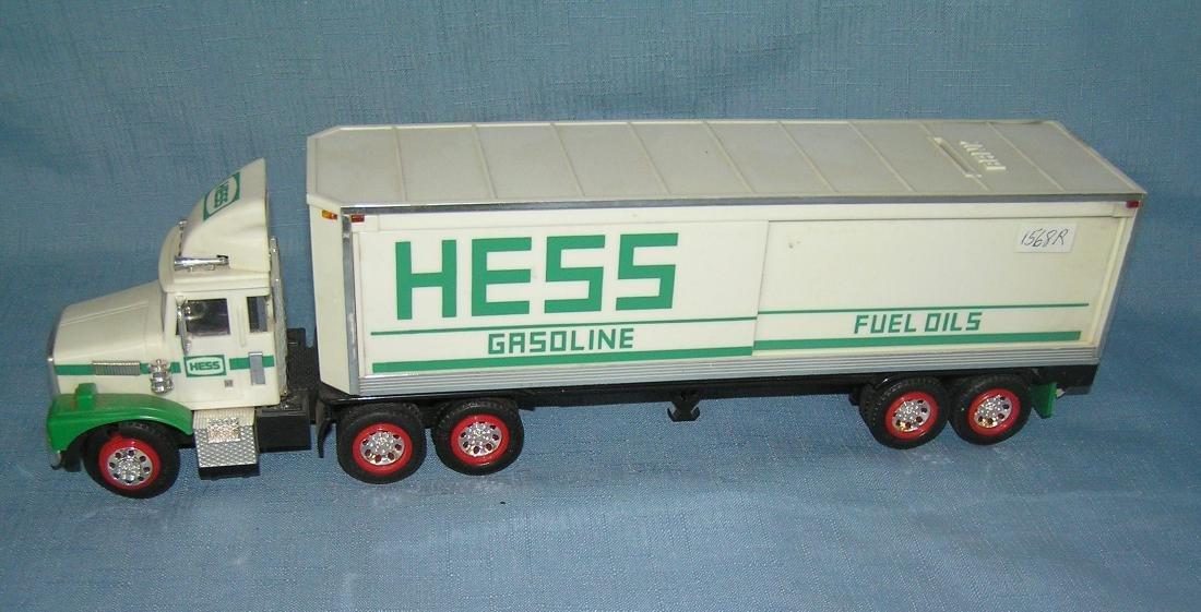 Vintage HESS gasoline Co. Tractor trailer delivery