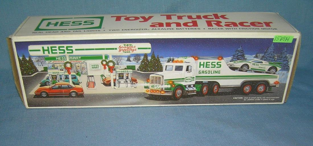 Vintage HESS toy truck and racer