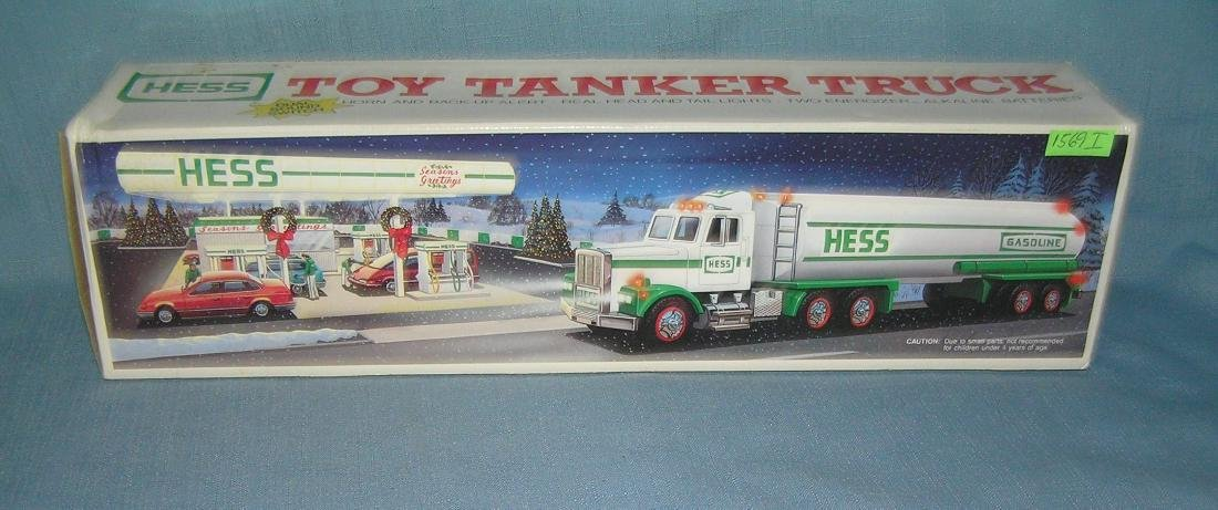 HESS gasoline Co. delivery tanker truck with box