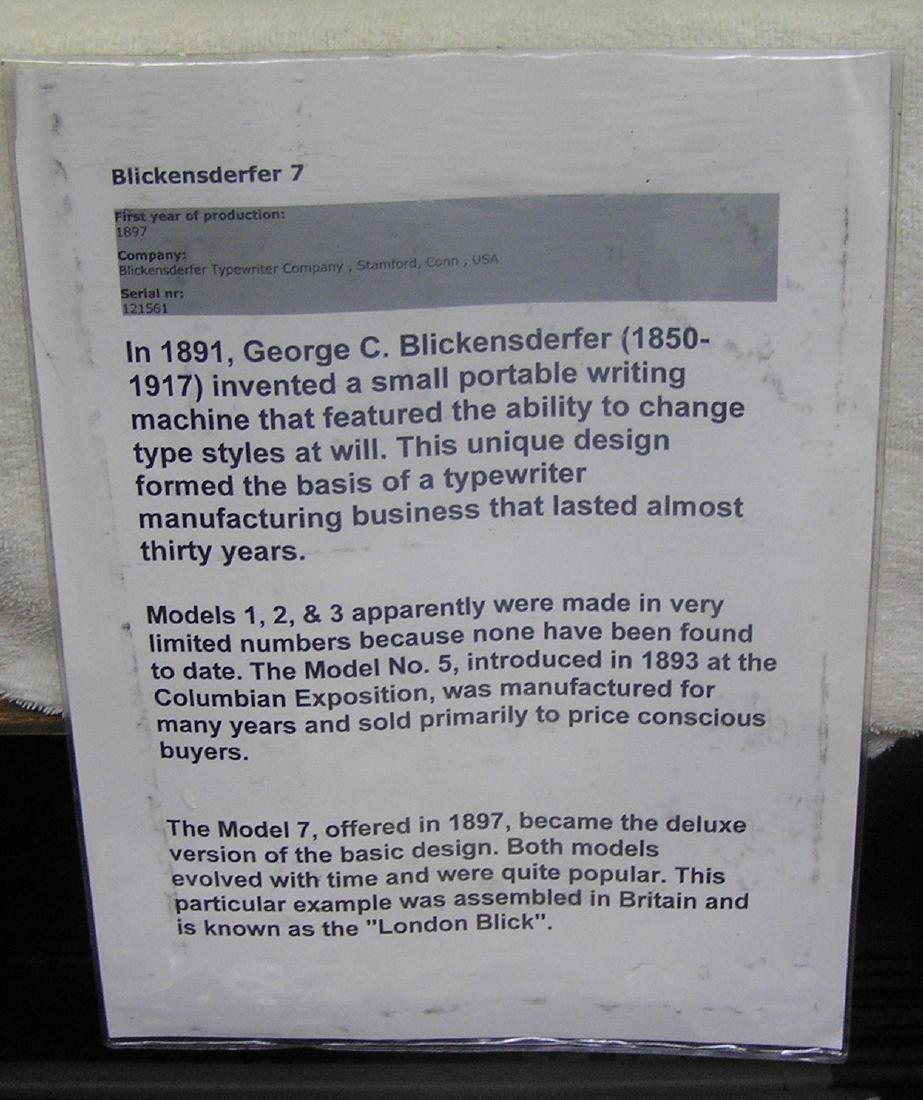 Antique Blickensderfer typewriter - 2