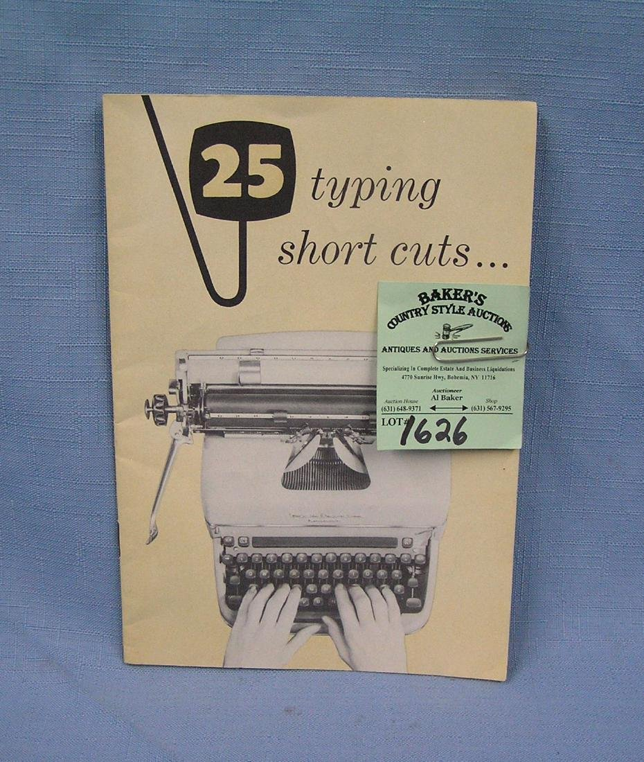 Vintage typewriting shortcuts booklet