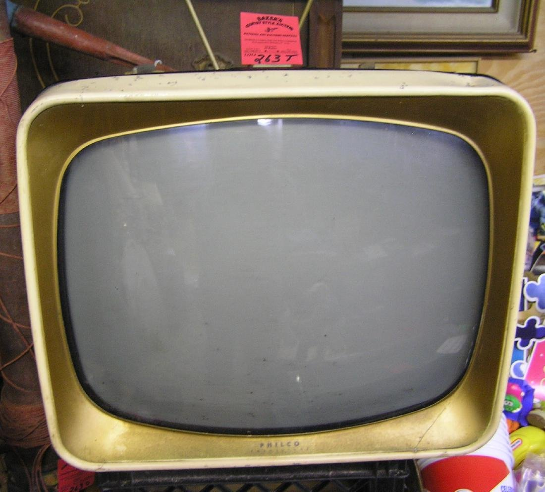 Antique Philco TV set
