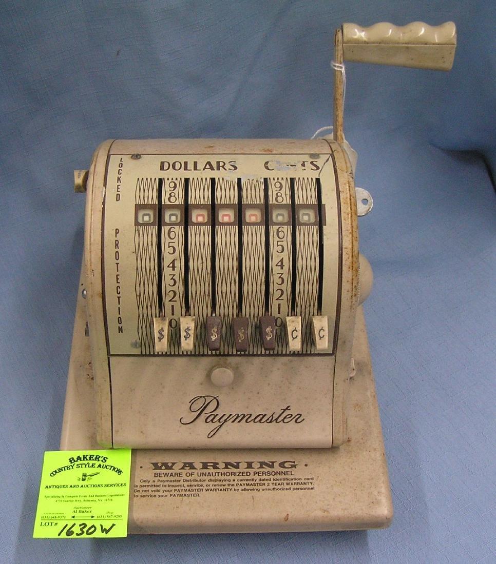 Vintage Paymaster check writing machine