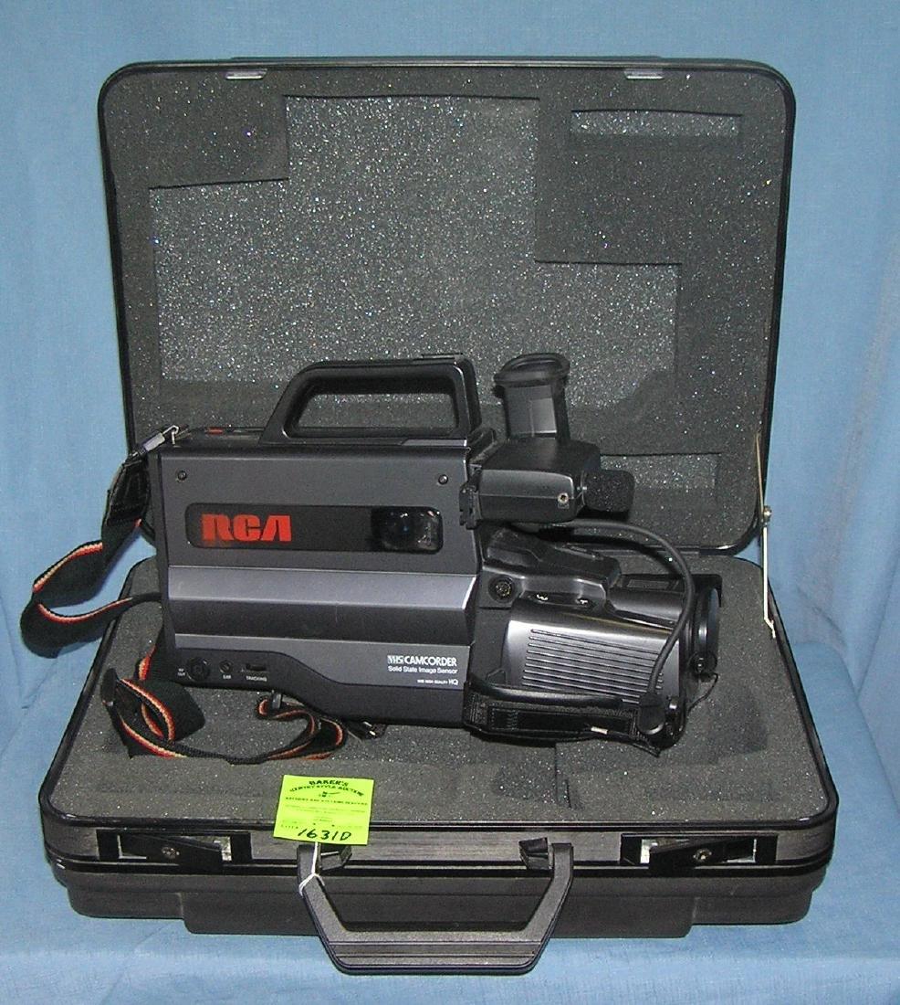 Vintage RCA VHS camcorder with original case