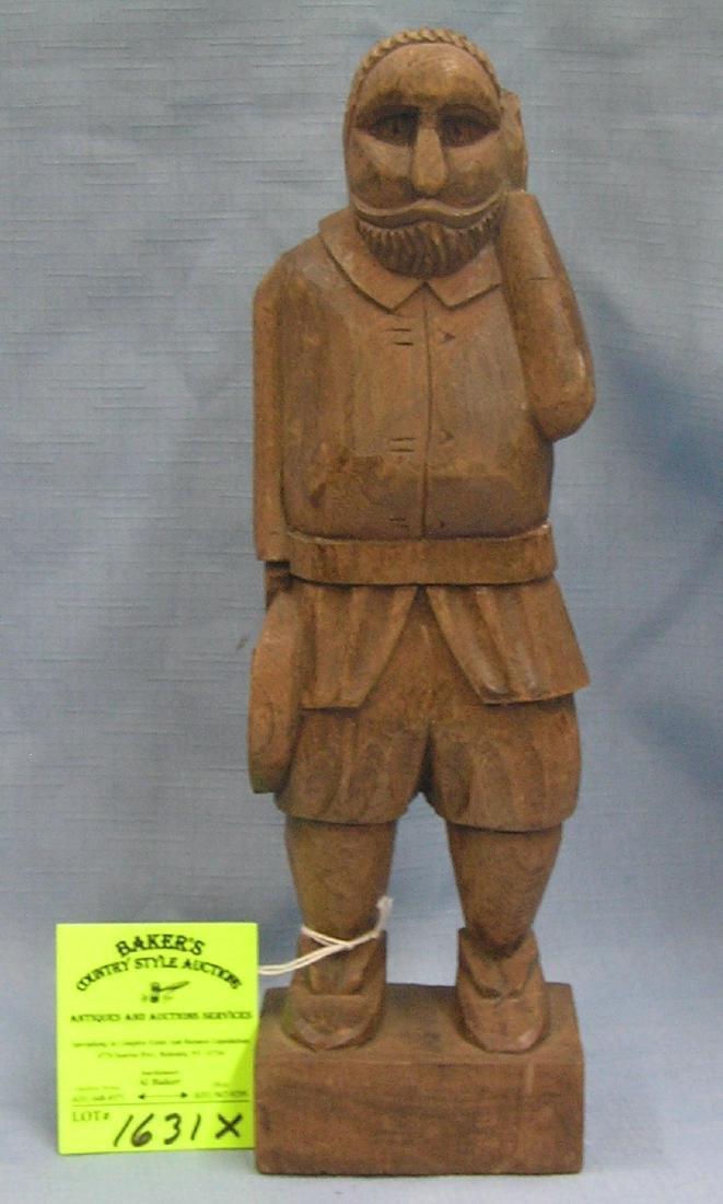 Vintage hand carved western figure