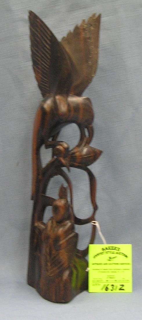 Hand carved figural bird carving