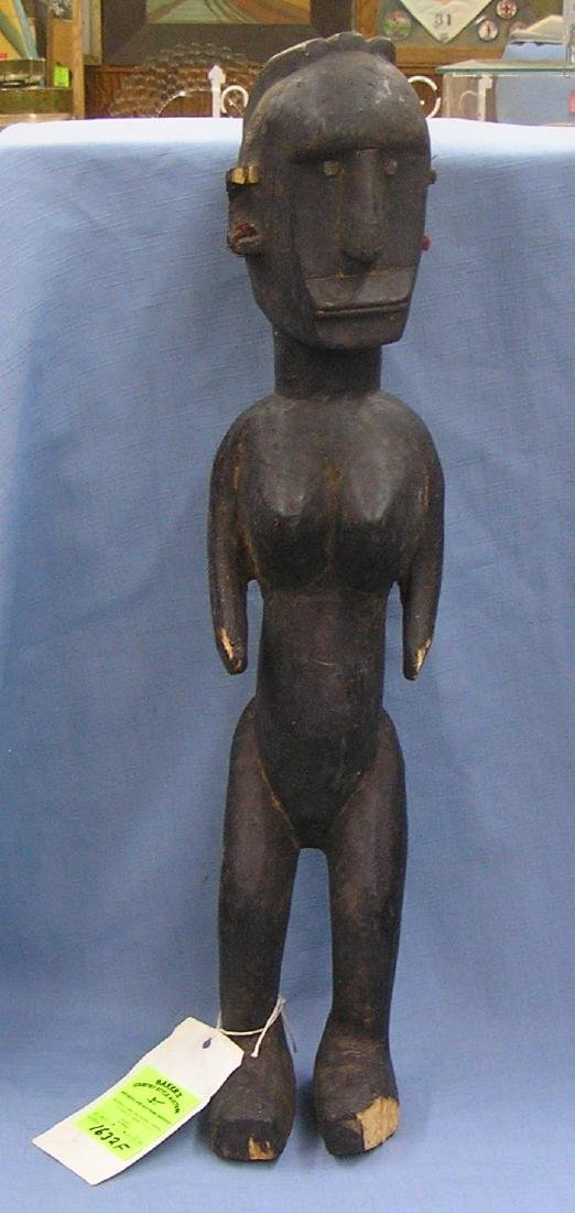 Large hand carved African figure