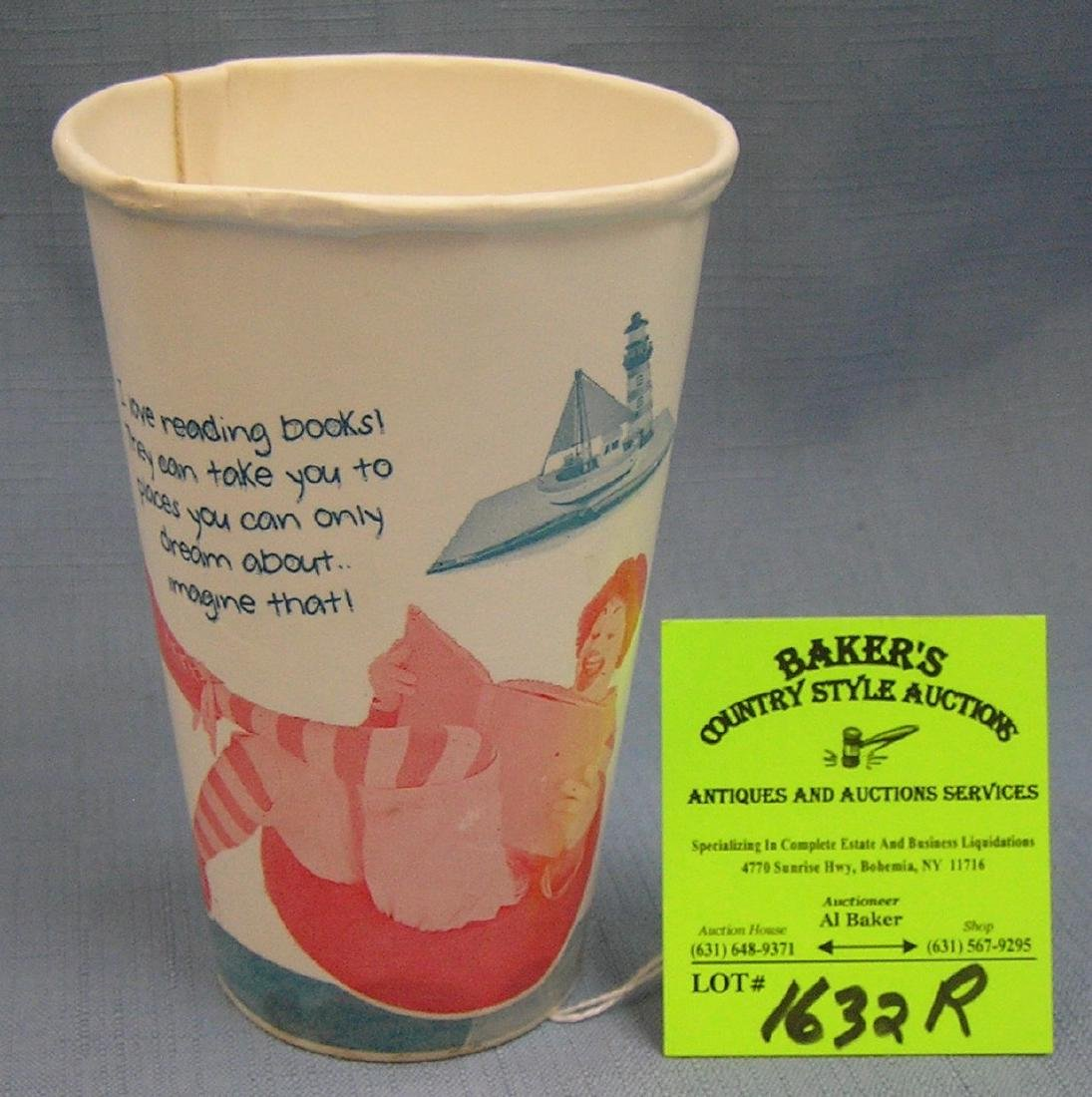 Early McDonald's fast food drink cup