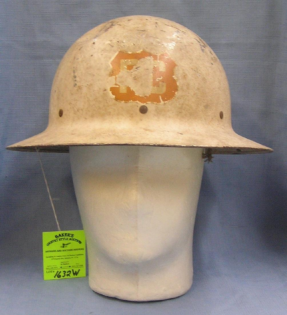 Vintage WWII police corp. helmet