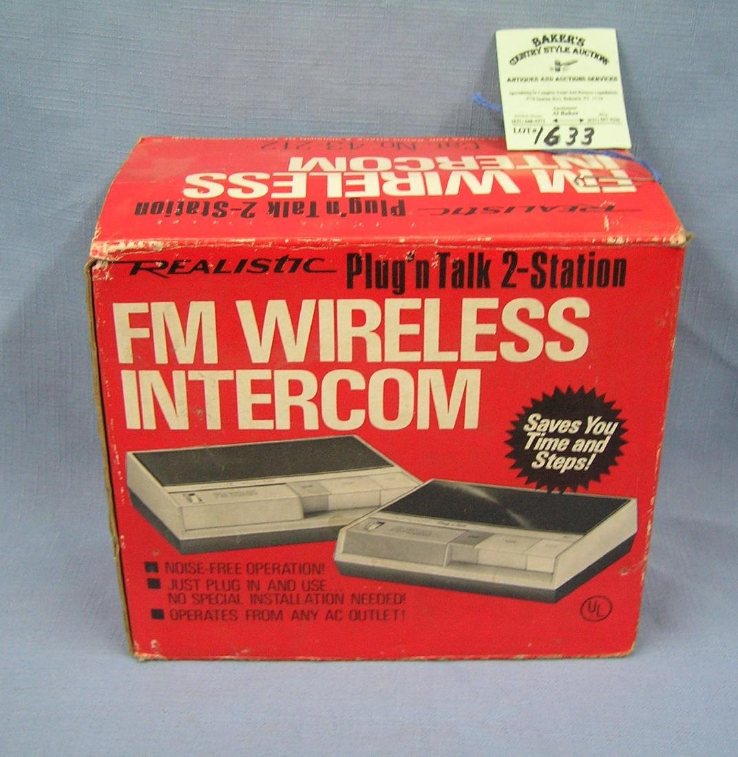 FM wireless intercom system with original box