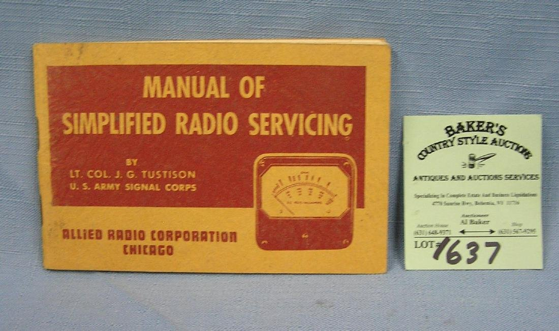 Manual of Simplified Radio Servicing booklet