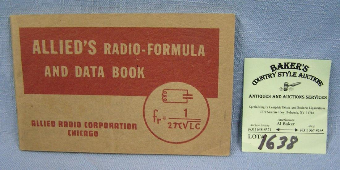 Allied's radio formula and data book