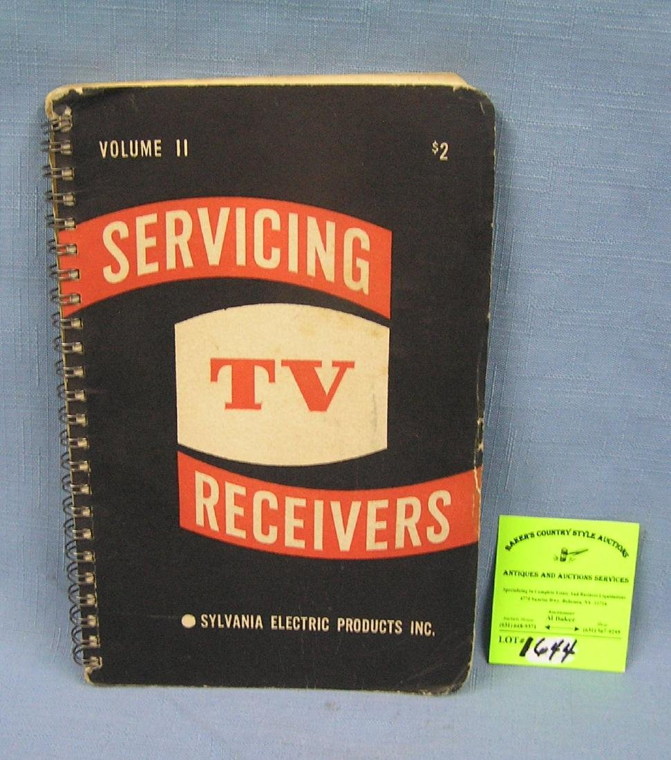 Servicing TV receivers Sylvania Electronic's book