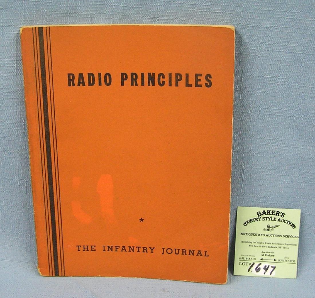 Vintage radio principles book