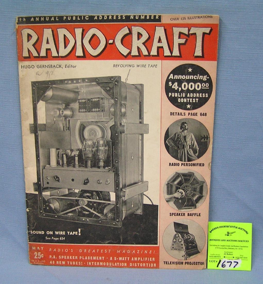 Vintage Radio Craft magazine