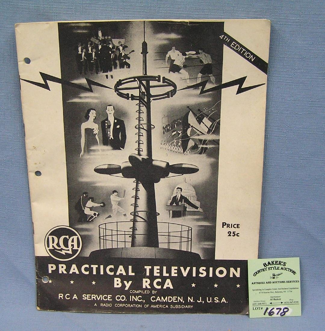 Vintage RCA practical television book