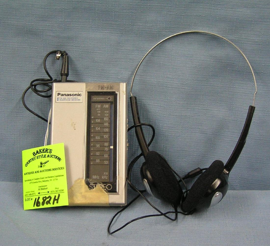 Panasonic stereo AM/FM headphone receiver