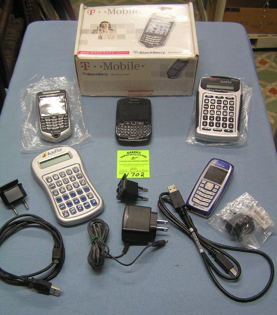Group of modern electronic devices