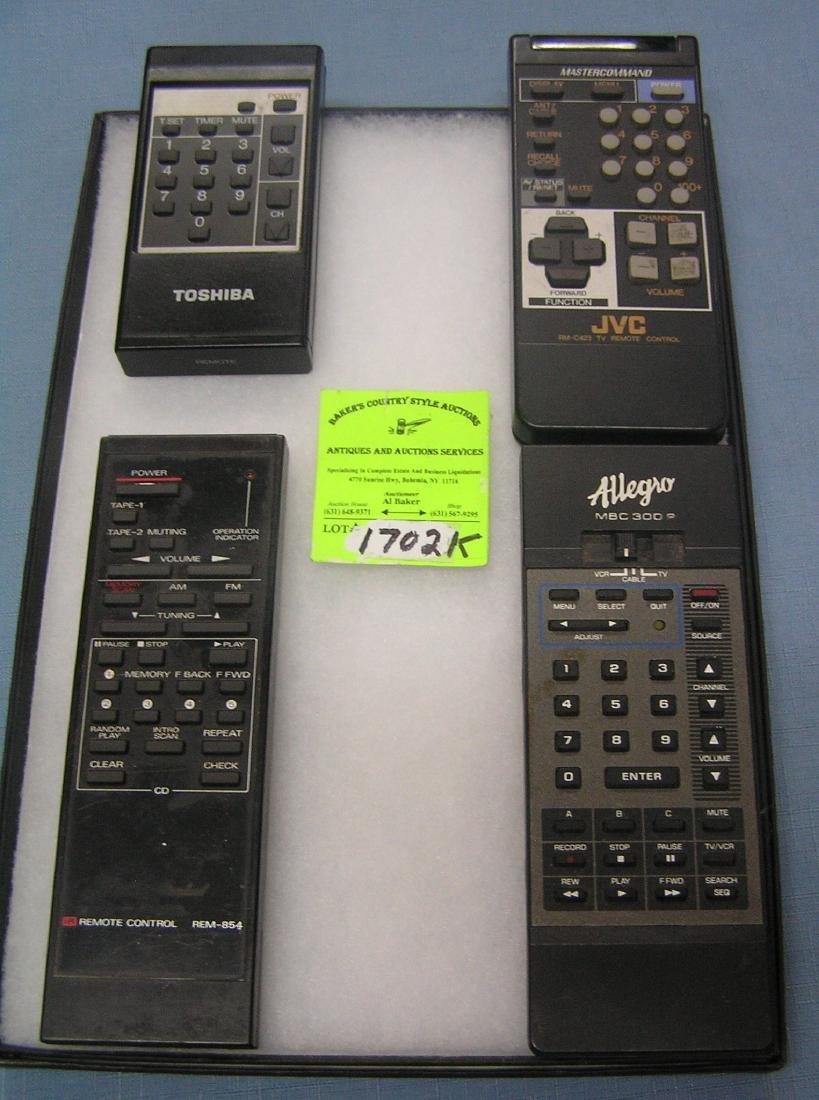Group of TV remote controls