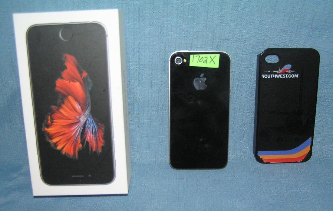 Apple I phone with Southwest Airlines cover and box