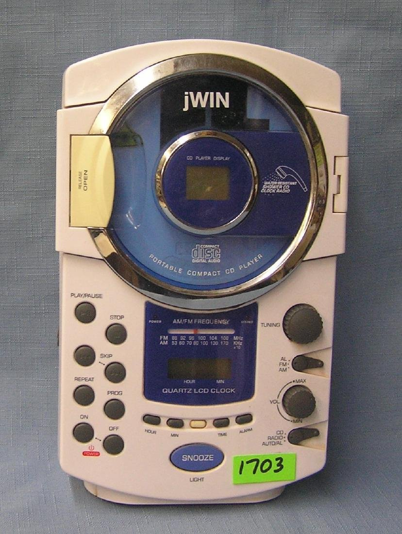 Jwin CD player and shower clock radio