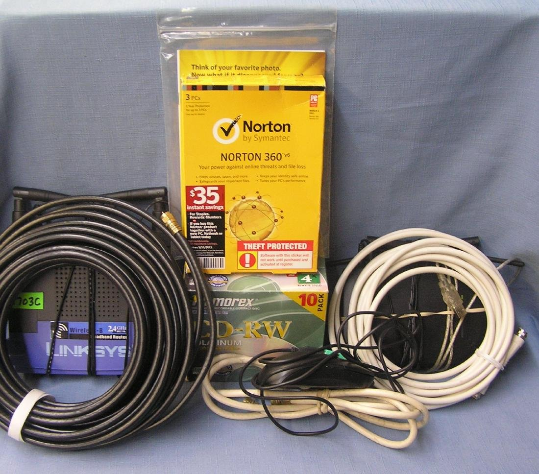 Box of electronic supplies
