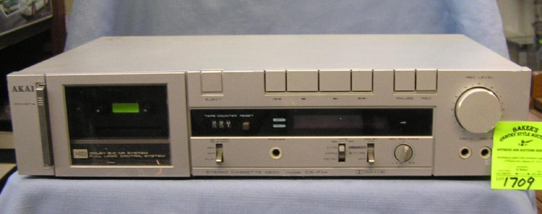Akai stereo cassette deck with Dolby system