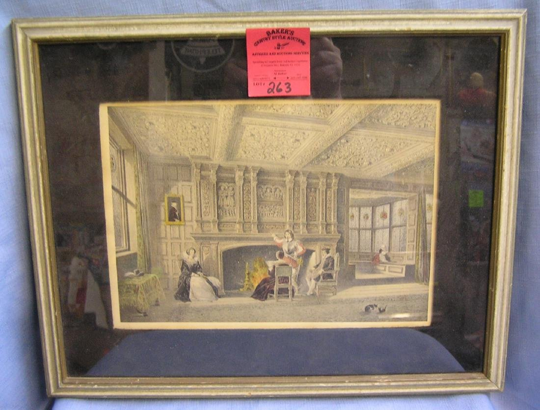 Antique print picturing royalty