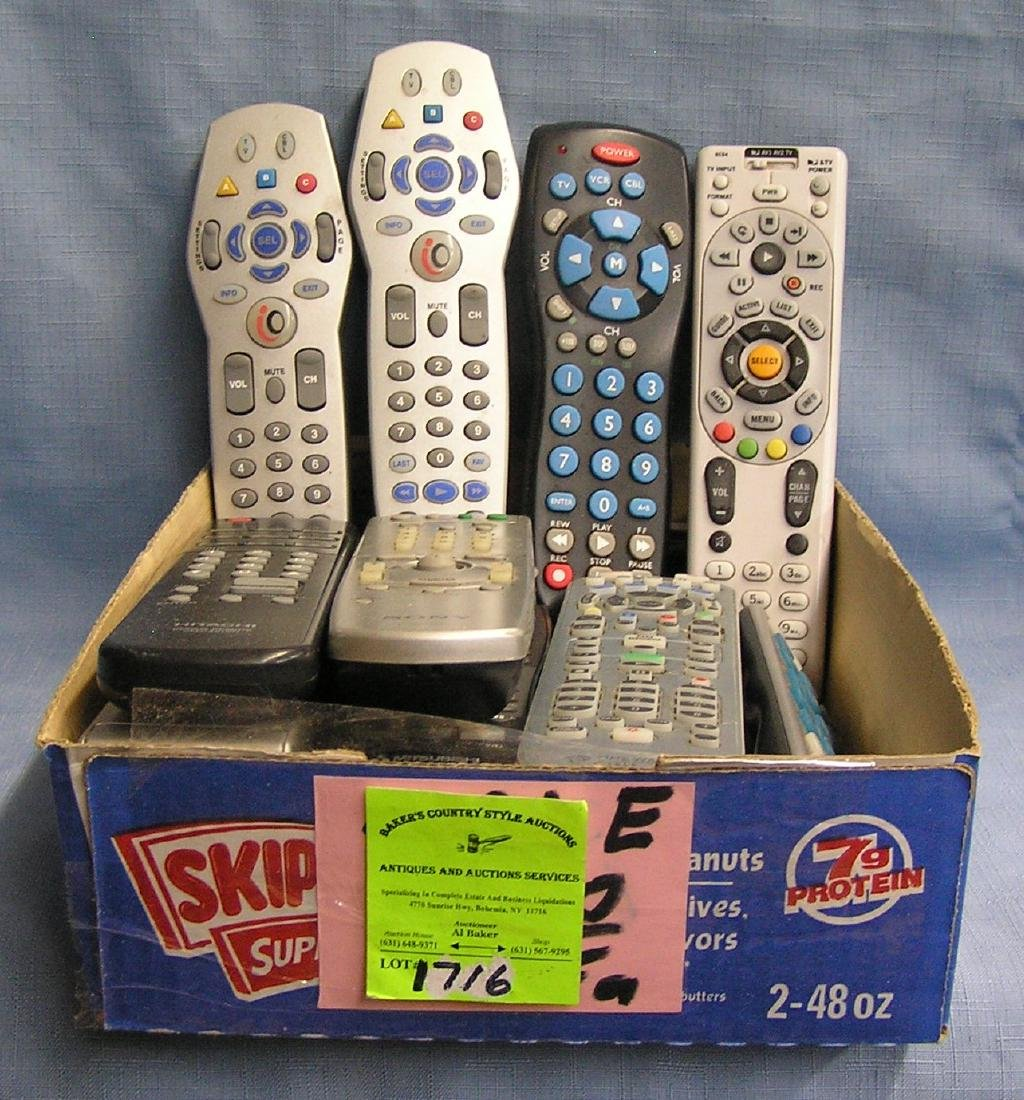 Large box of remote controls
