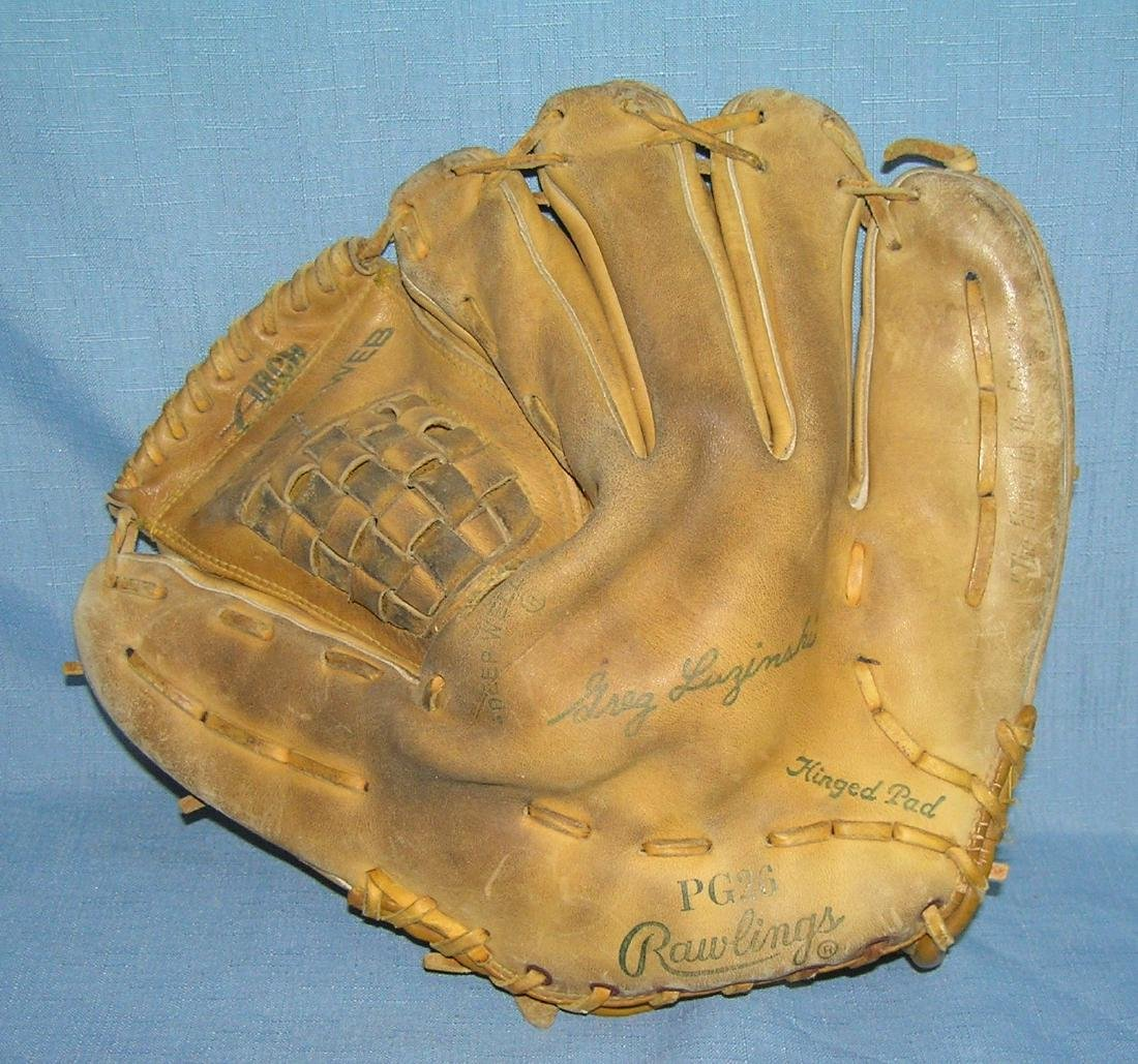 Greg Luzinski autographed model baseball glove