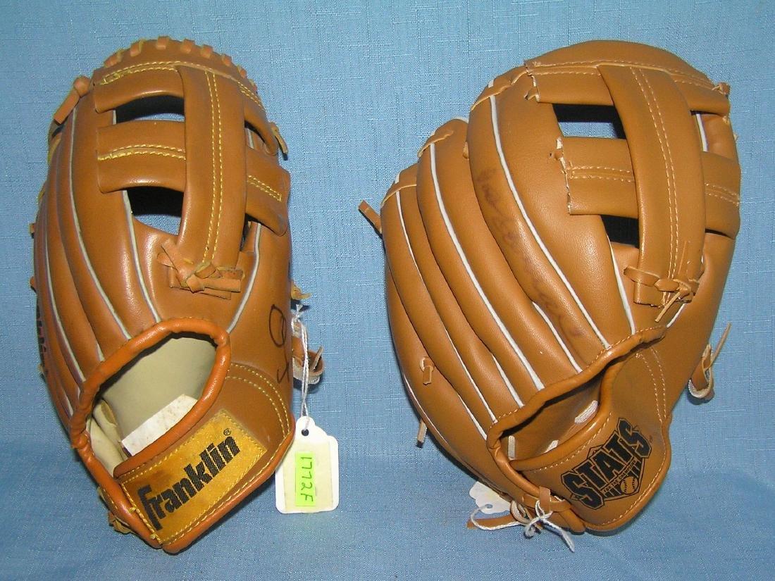 Pair of modern era baseball gloves