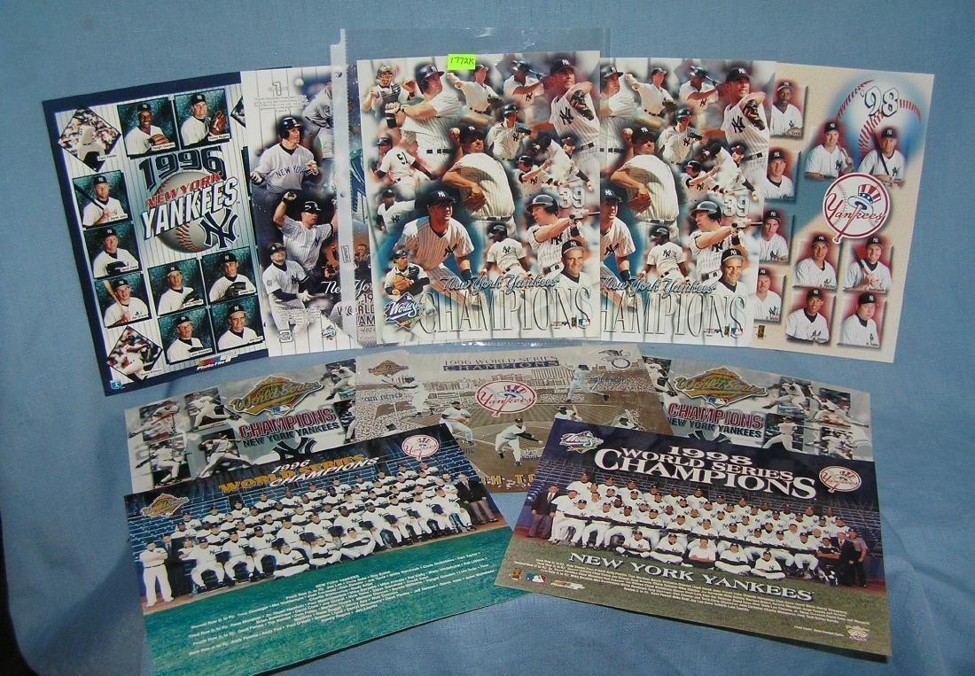 NY Yankees group and team photos featuring Derek Jeter