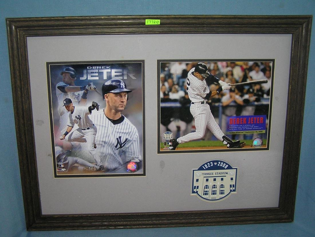 Derek Jeter oversized photo illustrated framed wall