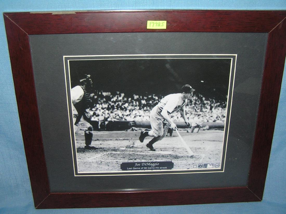 Joe D'Maggio matted and framed photo