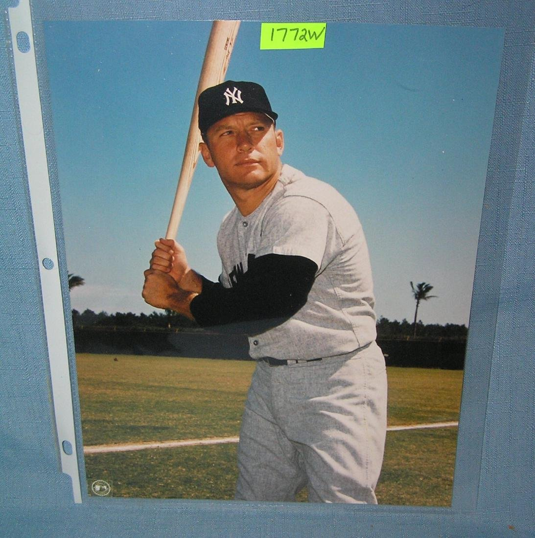 Mickey Mantle 8X10 color photo