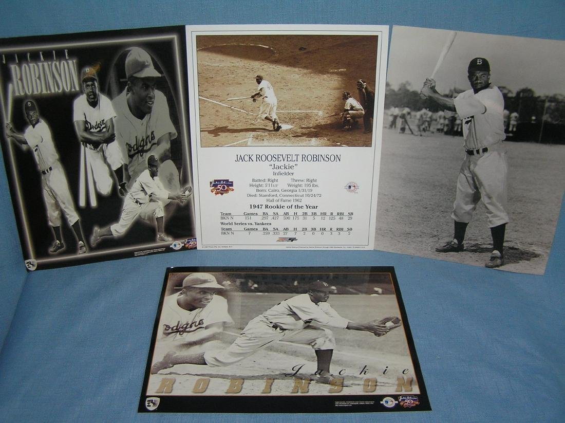 Jackie Robinson photos and rookie of the year photo