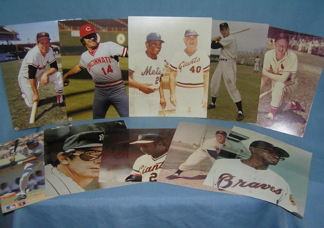 Group of 10 major league baseball all star 8X10 color