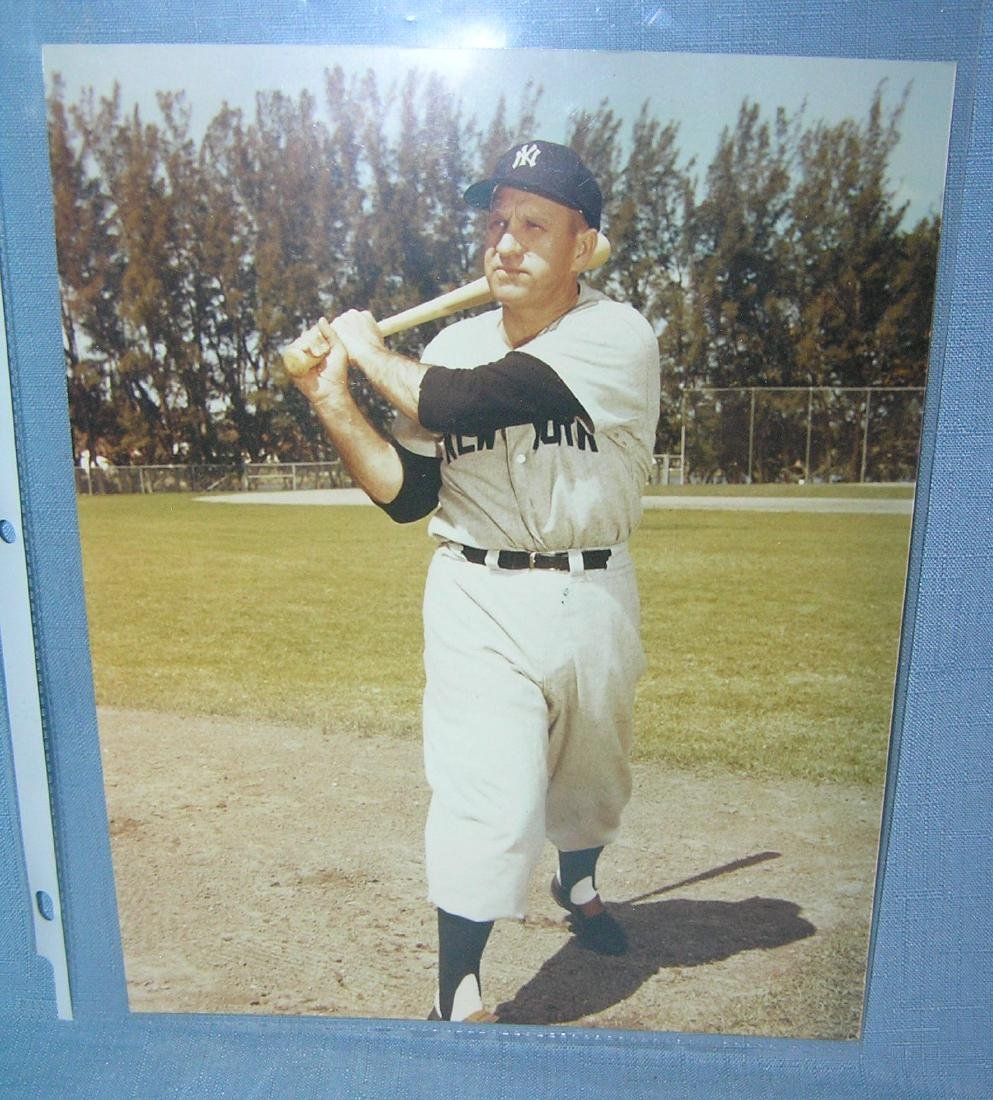 Early NY Yankee all star 8X10 color photo