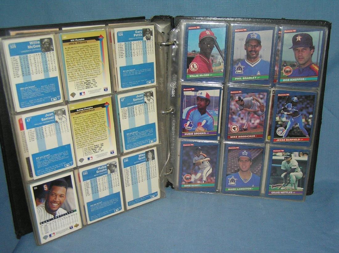 Binder full of vintage baseball cards