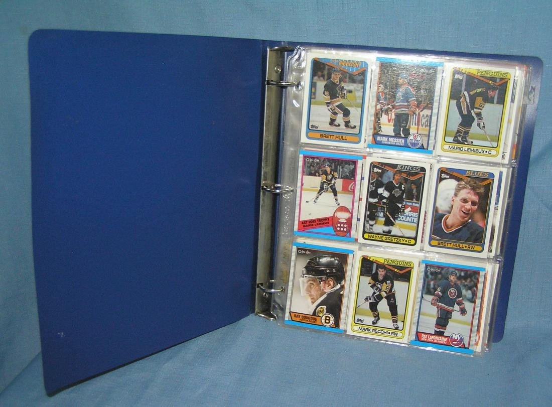 Collection of vintage all star hockey cards
