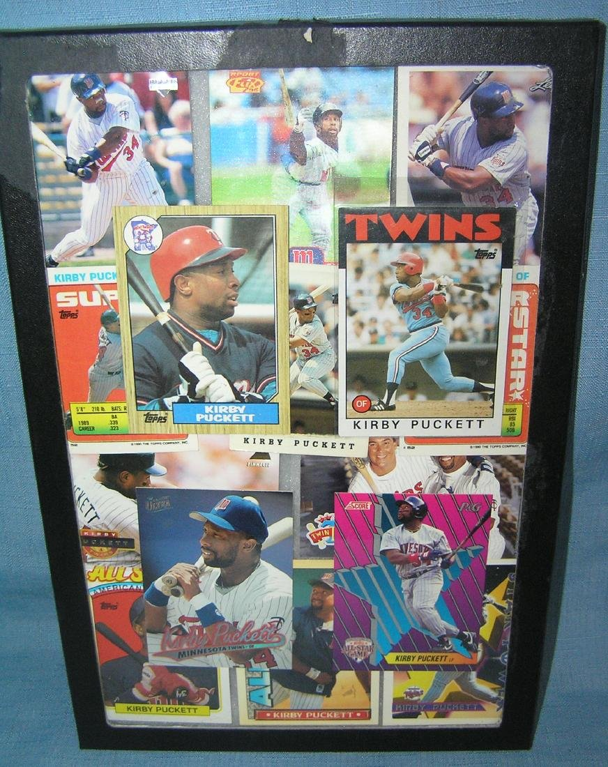 Vintage Kirby Puckett all star baseball cards