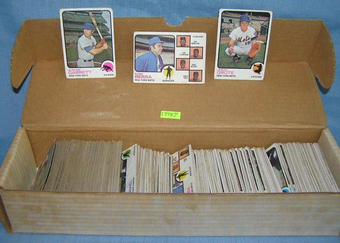 Group of vintage 1973 Topps baseball cards