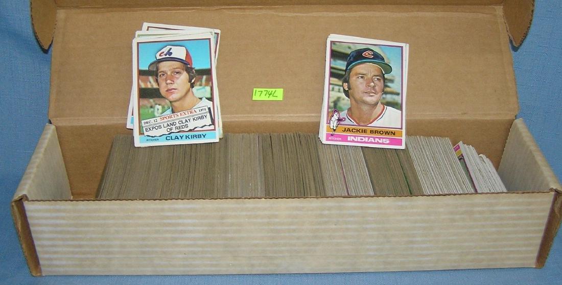 Box full of 1976 Topps baseball cards