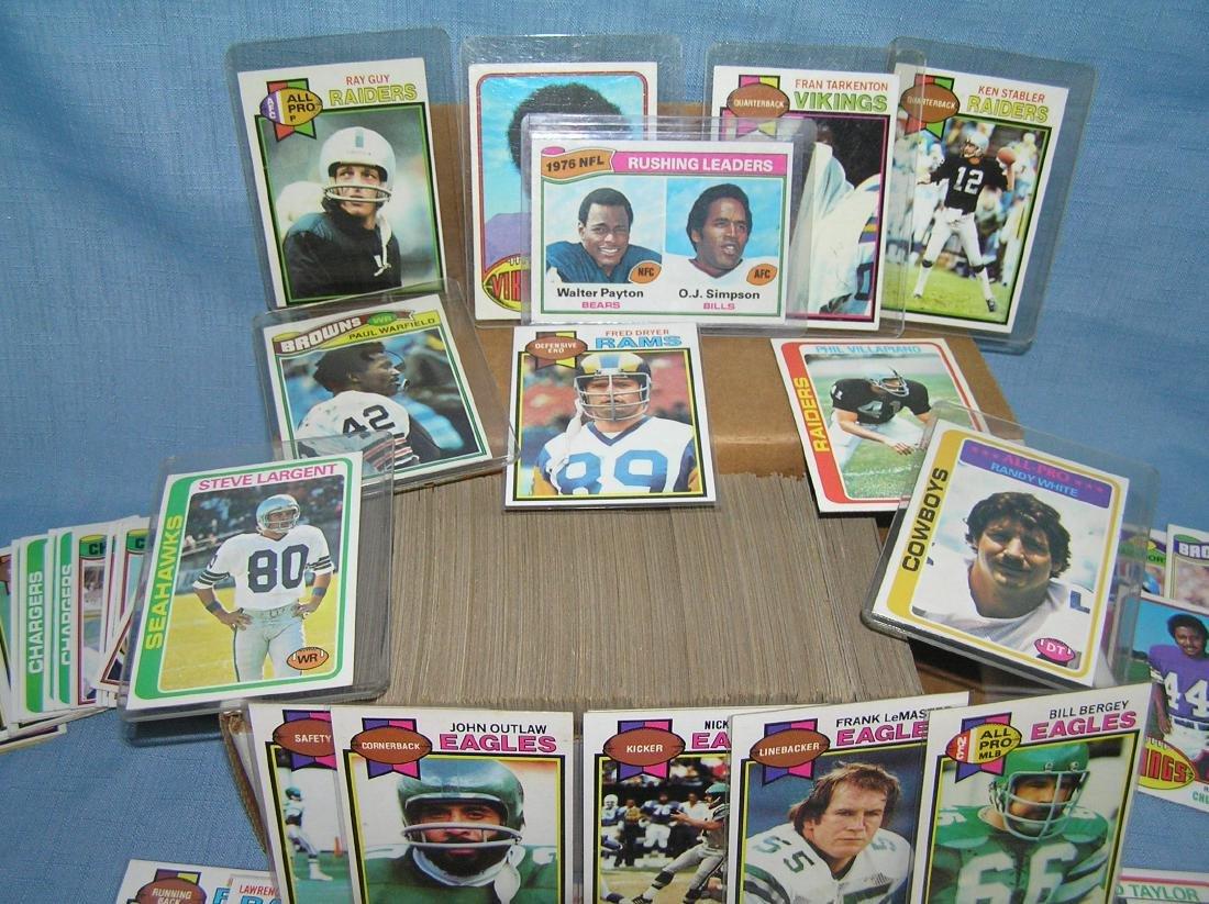 Box full of vintage football cards - 2
