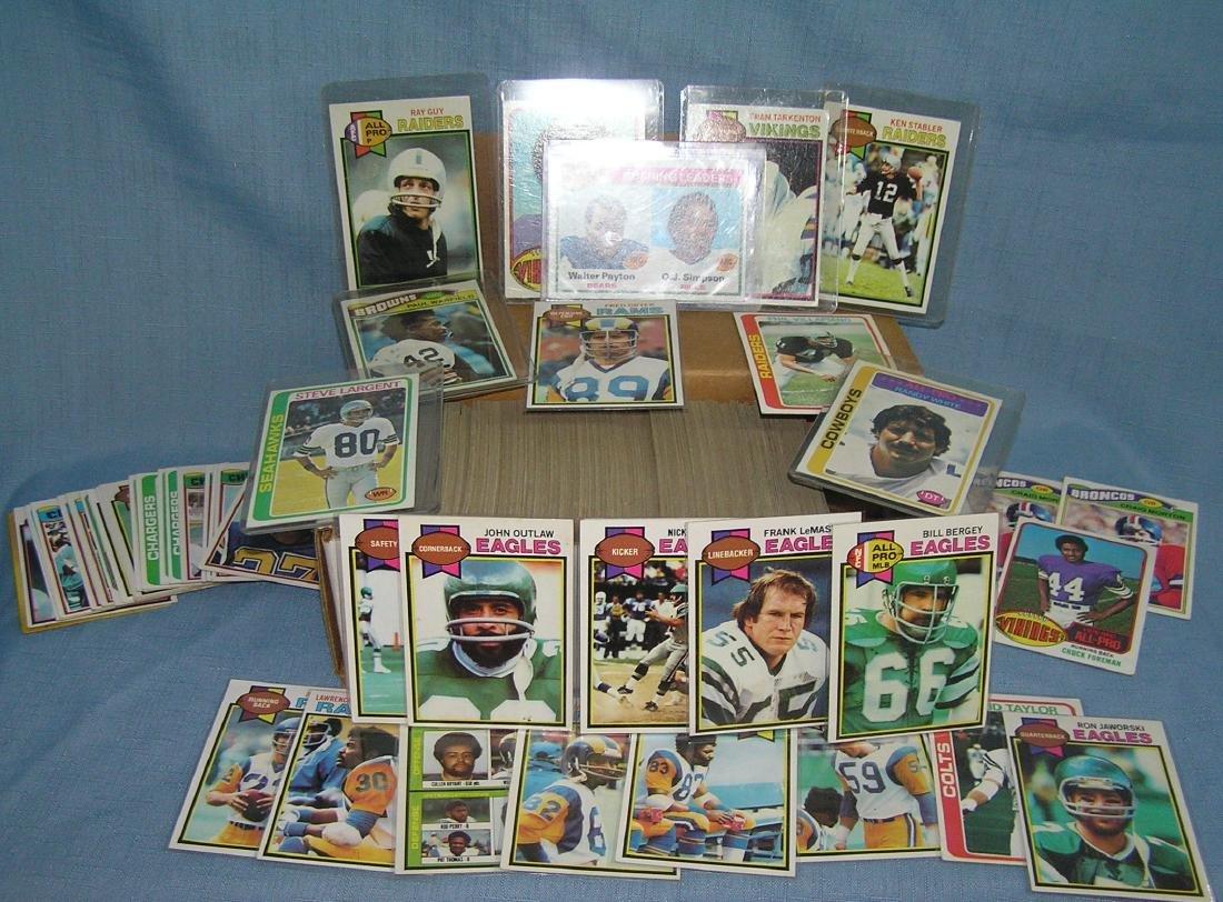 Box full of vintage football cards - 3