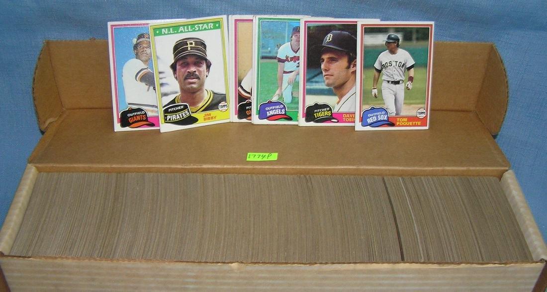 Box full of 1981 Topps baseball cards