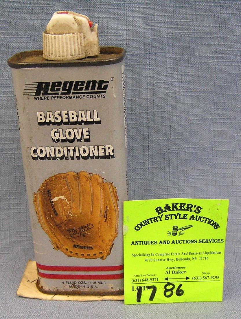 Can of leather baseball glove conditioning oil