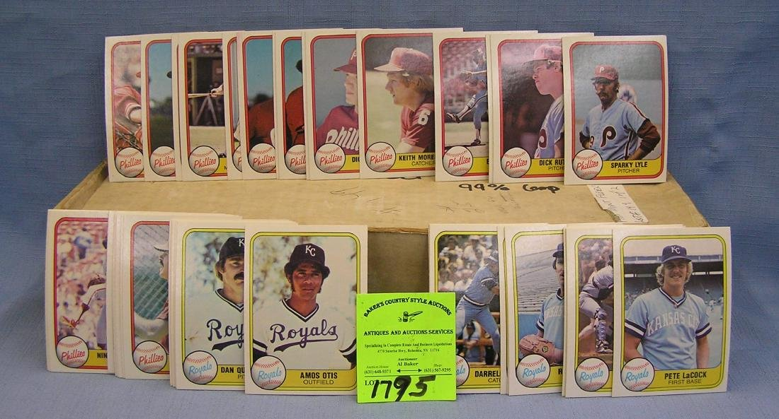 1981 Fleer baseball card set