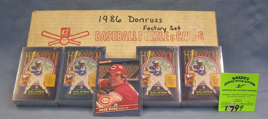 Vintage Donruss baseball card factory set