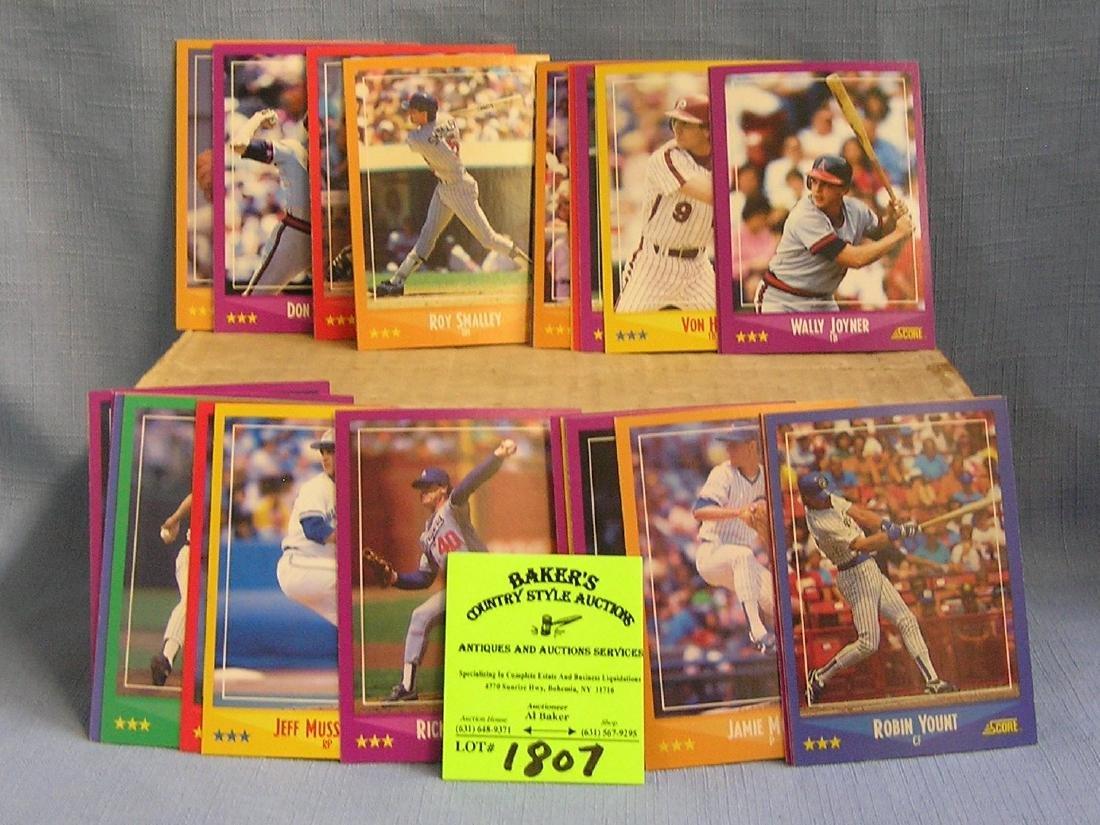 Box of vintage 1988 score baseball cards
